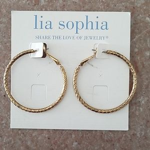 Lia Sophia | Gold Tone Hoops